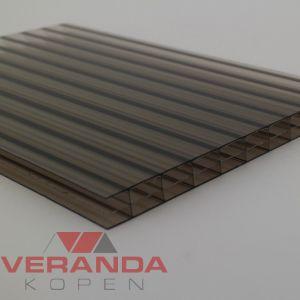 Lexan Thermoclear Plus 2UV - 3TS - 16mm - 1050mm breed polycarbonaat - Brons