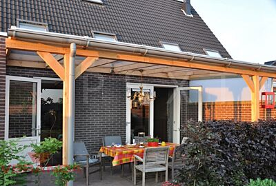 Veranda Lariks hout met PVC kraalgoot - Pext